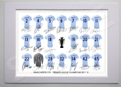 MOUNTED MANCHESTER CITY PREMIER LEAGUE CHAMPIONS 2012 FULL SQUAD TEAM SIGNED 30cm X 20cm MOUNT WITH PRINTED AUTOGRAPHS PHOTO PRINT PHOTOGRAPH AUTOGRAPHED POSTER JERSEY SHIRT GIFT PRESENT XMAS CHRISTMAS BIRTHDAY NEW FOR 2012-2013 SEASON MAN C ..