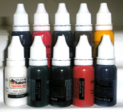 Iron Sakura Tattoo INK Pigment High Quality 10 Colours 15ml or 1/2oz Each 10 inks