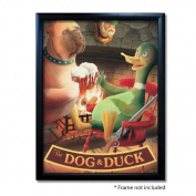Dog and Duck Pub Sign Art Poster Print