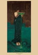 JOHN WILLIAM WATERHOUSE c1892 Circe Invidiosa 250gsm ART CARD Gloss A3 Reproduction Poster