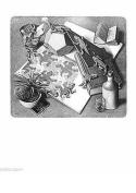 Reptiles MC Escher Art 55x65cm Art Print