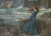 JOHN WILLIAM WATERHOUSE c1916 Miranda The Tempest 250gsm ART CARD Gloss A3 Reproduction Poster