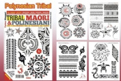 POLYNESIAN TRIBAL Tattoo Flash Book 66-Pages Pacific Island Design