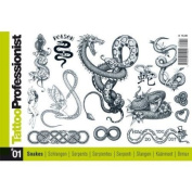 Tattoo Book of Various Snake Designs / Tattoo Flash Book Books / Tattoo Flash Art