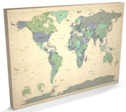 Map of the World Map, Canvas Art Print, 60cm x 90cm (A1) - 479