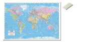 Bundle - 2 Items - Political World Map 2013 Poster - 91.5 x 61cms (36 x 24 Inches) and Small Block Of White Tack