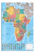 Africa Map Wall Chart Poster - 91.5 x 61cms