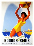 Bognor Regis Seaside Travel Poster Print - 40 x 30 cms