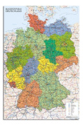 Germany Map Wall Chart Poster - 91.5 x 61cms