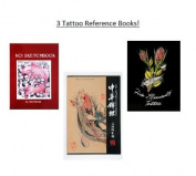 Lot Of 3 Tattoo Reference/Sketch Books - Koi Sketchbook By Al Pachanka, Five Elements