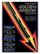Golden Arrow 1920's Railway Print - 40 x 30 cms