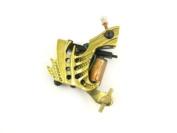 TATTOO MACHINE /GUN - GOLD ABSTRACT FRAME - 10 WRAP CUSTOM BUILT HANDMADE
