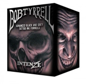 Authentic Intenze Bob Tyrrell Advance Black and Grey Tattoo Ink Set