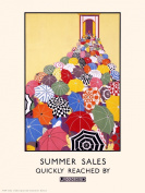 London Underground Summer sales Vintage Railway Poster PDP31