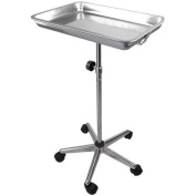 Mobile Centre Post Medical Mayo Tattoo Body Piercing Instrument Stand with Removable Tray 5 Legs for Tattoo Parlour
