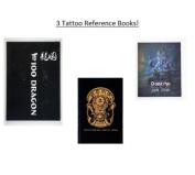 Lot Of 3 Tattoo Reference/Sketch Books - 100 Dragons, Hetattoo Koi Sketchbook & Ganesha Sketchbook