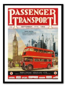 Passenger Transport London Bus Print Black Framed - 41 x 31 cms