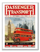 Passenger Transport London Bus Print Silver Framed - 41 x 31 cms
