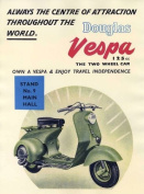 Vespa Scooter Advert Poster Print - Approx 40 x 30 cms
