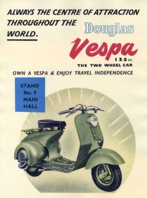 Vespa Scooter Advert Poster Print - Approx 40 x 30 cms (15.5 x 11.5 Inches)