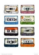 Analouge for Ever Cassette Tapes Pop Art Poster print by Simon Walker
