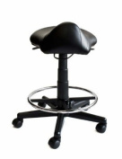 Saddle Stool with Foot Rest Ring