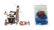 Technical Tattoo Supply Copper Hybrid - Professional Tattoo Machine Plus 100 Blue Rubber Bands