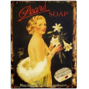41cm X 30cm ADVERTISING TIN PLAQUES SIGNS - PEARS SOAP TIN