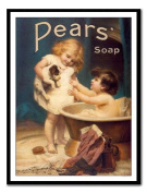 Pears Soap Print Black Framed - 41 x 31 cms