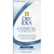 Dry Idea Clinical Anti Perspirant Deodorant Invisible Solid, Unscented - 50ml