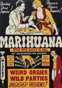 "AD48 Vintage 1930's Marihuana Marijuana Anti Drugs Film Movie Poster - A4 (297 x 210mm) 11.7"" x 8.3"""