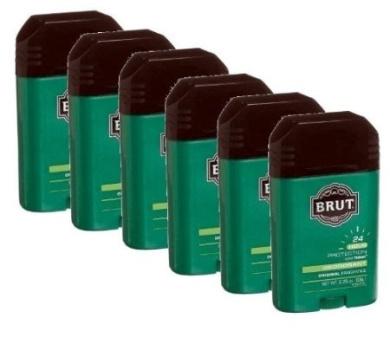 Brut Deodorant Original Fragrance 70ml /63 G (Pack of 6)