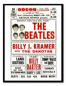 Beatles At Llandudno Odeon Print Black Framed - 41 x 31 cms