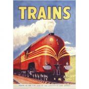 Red Coronation Trains Postcard