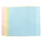 8 Pcs Colourful 13cm x 13cm Scalloped Edge Lens Cleaning Cloth