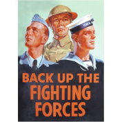 Back Up The Fighting Forces Postcard