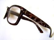 RETRO Wayfarer READING GLASSES +2.50 Black Tortoiseshell 50's 60's Geek Nerd 2.5 Prescription Spectacles