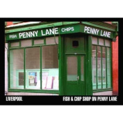 The Beatles Penny Lane Fish And Chip Shop Postcard Retro 100% Official Licenced Merchandise