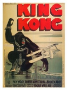 King Kong Vintage Movie Poster Print New - Approx 40 x 30 cms