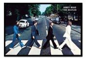 The Beatles Poster Abbey Road Black Framed & Satin Matt Laminated - 96.5 x 66 cms