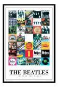 The Beatles Poster Through The Years Black Framed & Satin Matt Laminated - 96.5 x 66 cms