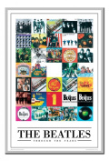 The Beatles Poster Through The Years Silver Framed & Satin Matt Laminated - 96.5 x 66 cms