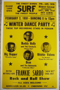 """Ron's Past and Present """"Winter Dance Party"""" W/ Buddy Holly, Big Bopper, Ritchie Valens And Dion Poster"""