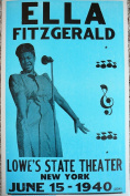 Ron's Past and Present Ella Fitzgerald In New York Poster