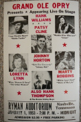 Ron's Past and Present Grand Ole Opry Live W/ Hank Williams & Patsy Cline Poster