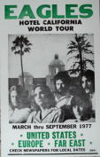 Ron's Past and Present The Eagles Hotel California World Tour Poster