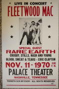 Rons Past and Present Fleetwood Mack, Rare Earth, Crosby ,Stills, Nash And Young, Blood Sweat And Tears And Eric Clapton Poster