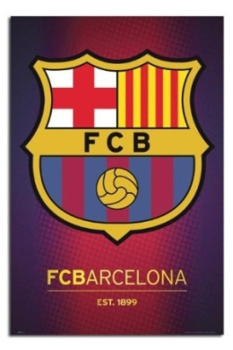 Barcelona Club Crest Poster - 91.5 x 61cms (36 x 24 Inches)