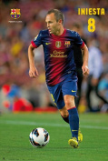 Football Poster Barcelona Iniesta 12 / 13 with Accessory Item multicoloured