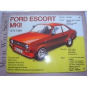 FORD ESCORT MKII CLASSIC CAR LARGE METAL SIGN 30cm X 41cm